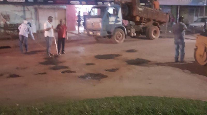 Prefeitura começa de fato o serviço de tapar buracos